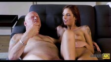 DADDY4K. Super-hot redhead gets paid for sex with boyfriends father